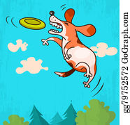 Funny-Toy-Train - Dog With Frisbee