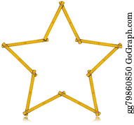 Millimeter - Wooden Folding Ruler Star Shaped