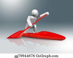 Canoe - Canoe Sprint 3d Symbol, Olympic Sports