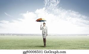 Bosses-Day - Businesswoman With Umbrella