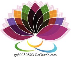 Golden-Lotus-Flower-Logo - Lotus Flower Identity Card Logo