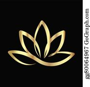 Golden-Lotus-Flower-Logo - Gold Lotus Logo