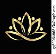 Golden-Lotus-Flower-Logo - Lotus Yoga Logo