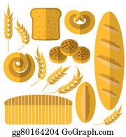 Dinner-Icons - Set Of Bakery Products