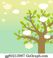 Bird-Feeder - Cartoon Tree And Bird