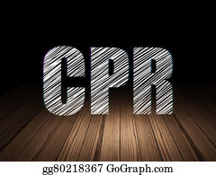 Cpr - Healthcare Concept: Cpr In Grunge Dark Room