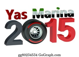 Formula-1-Racing-Car - F1 Formula 1 Grand Prix Yas Marina 2015