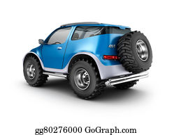 Muscle-Car - Offroad Car Concept. My Own Design.