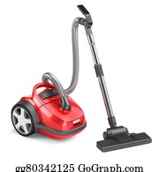 Hoover - Red Vacuum Cleaner Isolated On White Background 3d
