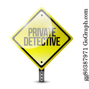 Private-Investigator - Private Detective Yellow Warning Sign Concept