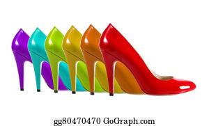 High-Heel-Shoes - Rainbow Shoes