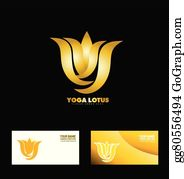 Golden-Lotus-Flower-Logo - Gold Yoga Lotus Flower