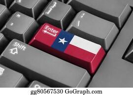 Texas-State-Flag - Enter Button With Texas State Flag