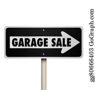 Garage-Sale - Garage Sale Road Sign Pointing Way Rummage Moving Lawn Resale Event