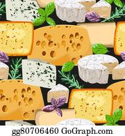 Herbs - Seamless Cheese And Herbs