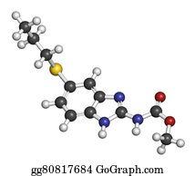 Nematode - Albendazole Anthelmintic Drug Molecule. Used In Treatment Of Par