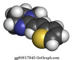Nematode - Pyrantel Antinematodal Drug Molecule. Used To Threat Nematode (r