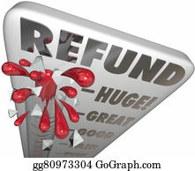 Tax-Return - Refund Thermometer Measure Money Back Cash Tax Return