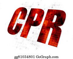 Cpr - Health Concept: Cpr On Digital Background
