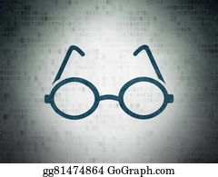 Computer-Nerd - Science Concept: Glasses On Digital Paper Background
