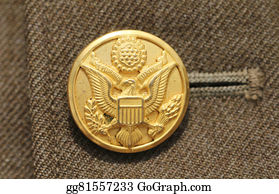 Military-Eagle-Emblem - American Military Button