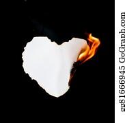 Flaming-Heart - Burning Paper