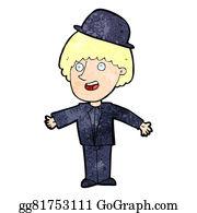 Bowler-Hat - Cartoon Man In Bowler Hat