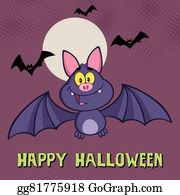 Scary-Funny-Dracula-Vampire-Cartoon - Smiling Vampire Bat Greeting Card