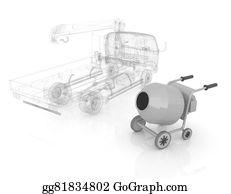 Cement-Truck - 3d Model Concrete Mixer And Truck