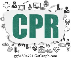Cpr - Medicine Concept: Cpr On Torn Paper Background