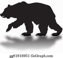 Growl - Silhouette Of A Black Grizzly Bear