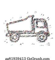 Tractor-Trailer - People  Shape Truck Transportation