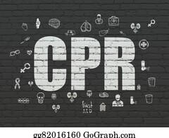Cpr - Healthcare Concept: Cpr On Wall Background