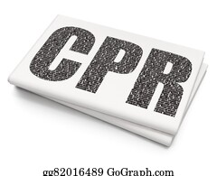 Cpr - Healthcare Concept: Cpr On Blank Newspaper Background