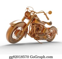 Motorcycle - Golden Motorcycle