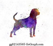 Rottweiler - Rottweiler In Watercolor