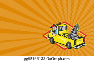Tow-Truck - Business Card Tow Wrecker Truck Driver Thumbs Up