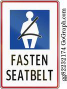 Seat-Belt - Road Sign In The Philippines - Fasten Seat Belt