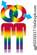 Same-Sex-Wedding - Gay Relationship - Rainbow Colored Symbol