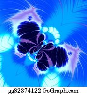 Odd-Shapes - Abstract Blue Butterfly Fractal.