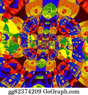 Odd-Shapes - Abstract Colorful Spiral Fractal.