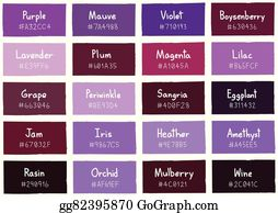 Boysenberry - Purple Tone Color Shade Background With Code And Name