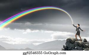 Bowler-Hat - Woman Catching Rainbow