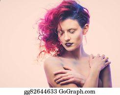 Beautiful-Unicorn - Beautiful Woman With Magnificent Galaxy Hair