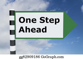 One-Direction-Road-Sign - One Step Ahead Concept