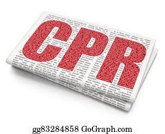 Cpr - Medicine Concept: Cpr On Newspaper Background