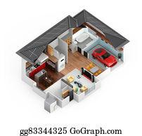 Electric-Meter - Cutaway View Of Smart House