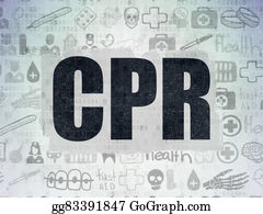 Cpr - Medicine Concept: Cpr On Digital Paper Background