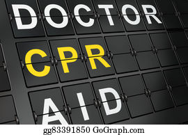 Cpr - Healthcare Concept: Cpr On Airport Board Background