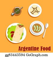 Empanada clip art royalty free gograph for Artistic argentinean cuisine